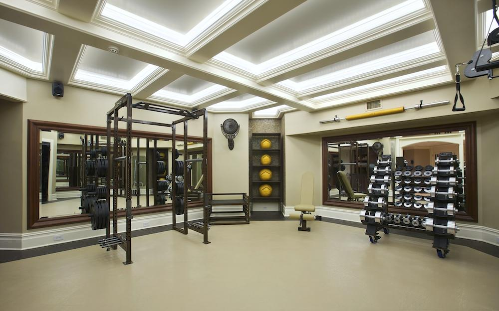 Jim ryno luxury home gym designer writer trainer dad for Luxury home gym